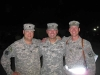 LTC Dave Chase, COL Mike Herman, and MAJ Jim Linn at Ali Al Salem Air Base, Kuwait