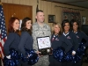 SSG McMillian and the Houston Texans Cheerleaders